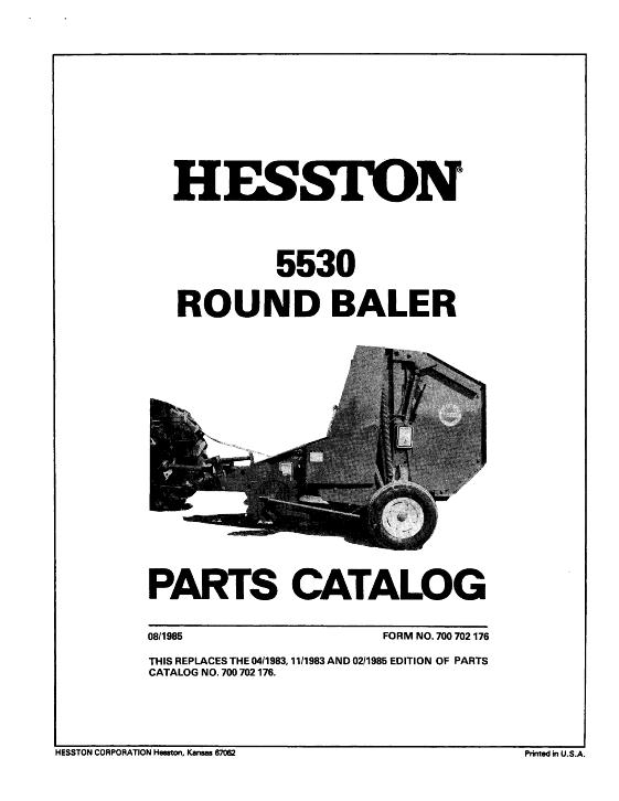 Agco Technical Publications  Hesston Hay Equipment-balers