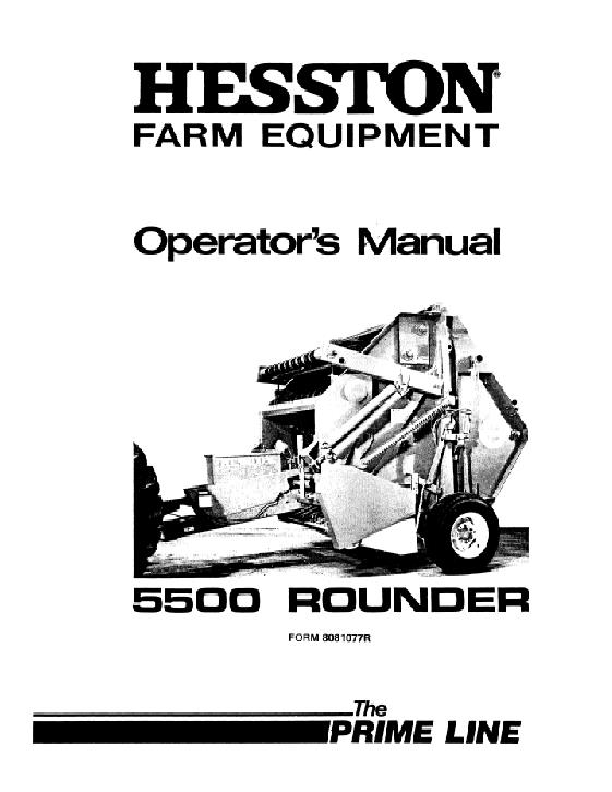 Agco Technical Publications Hesston Hay Equipment Balers