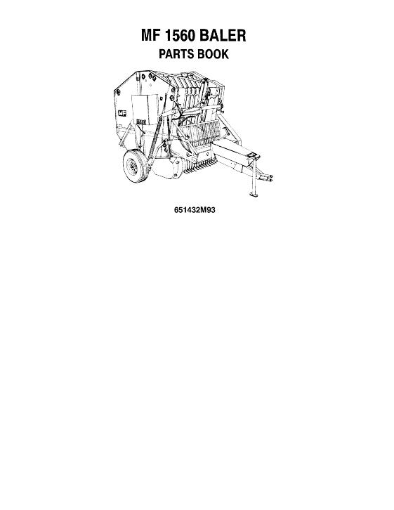 Download Massey Ferguson 1560 Baler Manuals