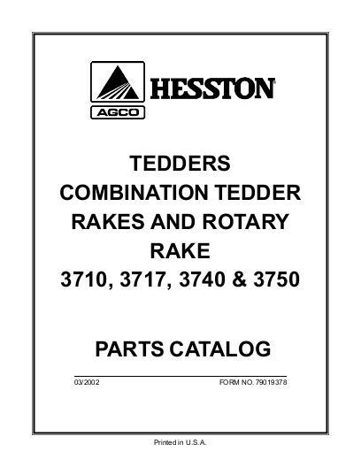 agco technical publications  hesston hay equipment