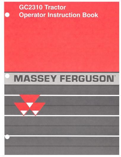 Massey Ferguson Gc2310 Parts : Agco technical publications massey ferguson tractors