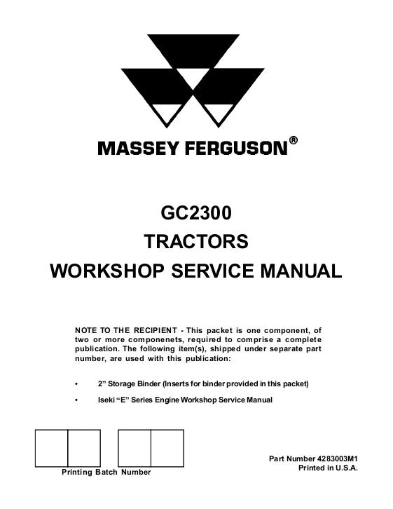 Agco Technical Publications  Massey Ferguson  Tractors