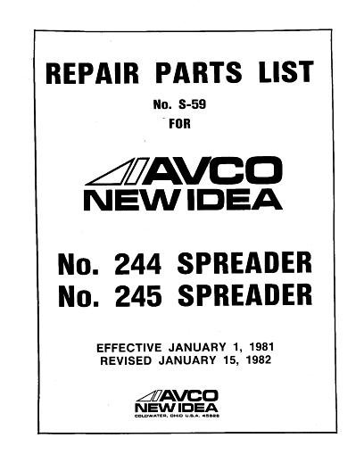 New Idea Spreader Parts : Agco technical publications new idea material handling
