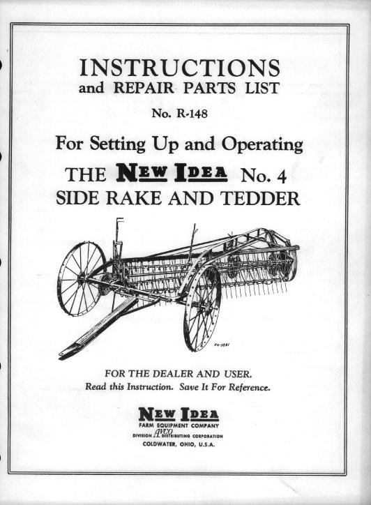 Sitrex Hay Rake Operators Manual