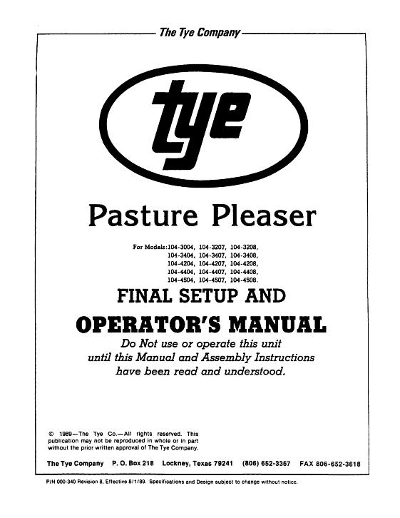 agco technical publications tye seeding grain drills 104 grain rh agcopubs com tye pasture pleaser parts manual tye pasture pleaser parts manual