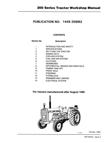 AGCO Technical Publications Massey Ferguson Tractors