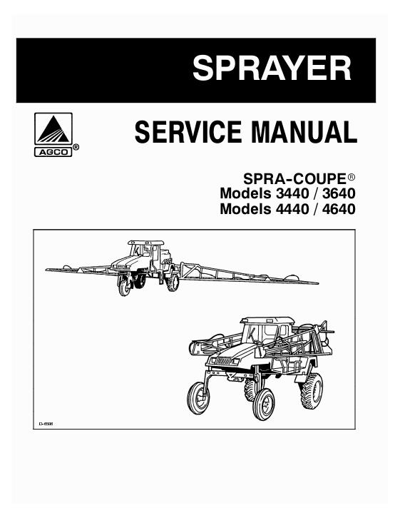 agco technical publications spra coupe applicators liquid sprayers SPRA-COUPE 220 Parts