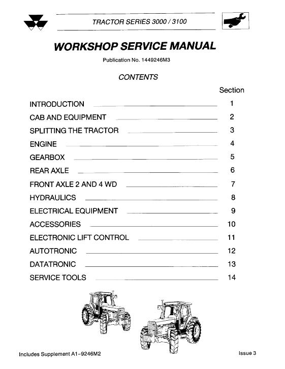 Agco Technical Publications Massey Ferguson Tractors Agricultural Wheeled 3000 Series 3100 Series Tractor Assembly 3050 3060 3065 3070 3075 3080 3090 3120 3120t 3140 Tractor Service Manual Assembly Includes Binder And Engine