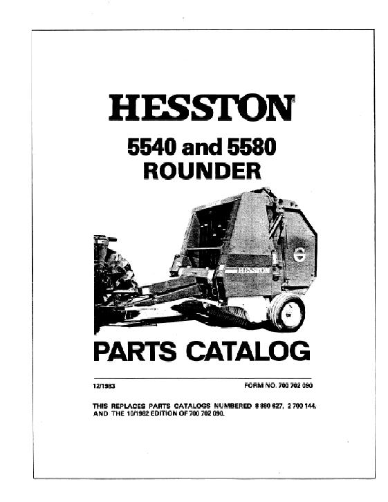 Hesston 5580 round baler parts manual product user guide instruction agco technical publications hesston hay equipment balers round rh agcopubs com hesston 5540 round baler manual ccuart Choice Image