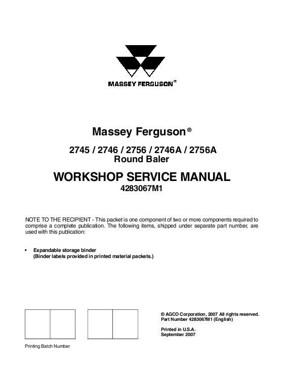 massey ferguson 10 baler manual