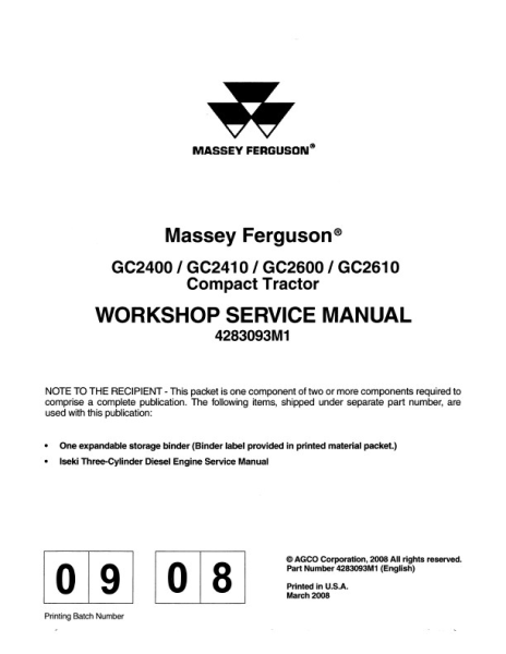 agco technical publications massey ferguson tractor compact