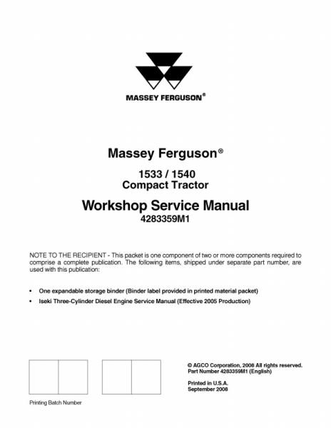 agco technical publications massey ferguson tractors compact 1533 rh agcopubs com massey ferguson 1540 parts manual Massey Ferguson 1540 Specs