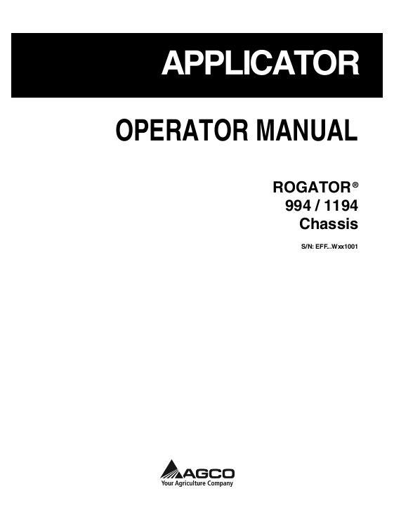 agco technical publications ag chem rogator applicators row crop rh agcopubs com rogator 1064 operators manual rogator 1074 operators manual