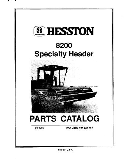 AGCO Technical Publications: Hesston Hay Equipment-Hay (Auger