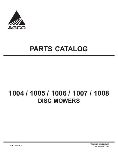 AGCO Technical Publications: Hesston Hay Equipment-Mowers