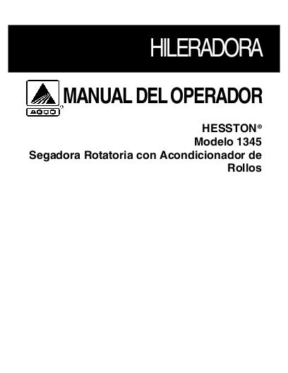 Hesston 555t operators Manual download