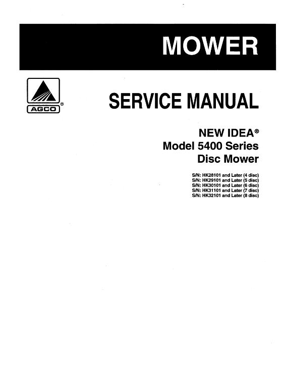 agco technical publications new idea hay equipment mowers 5406 rh agcopubs com new idea 5407 disc mower service manual New Idea Disc Mower Dealers