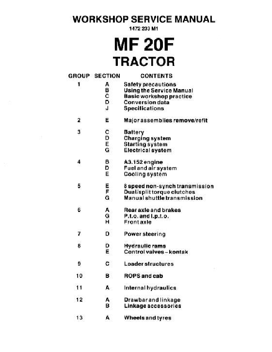 massey ferguson 65 service manual