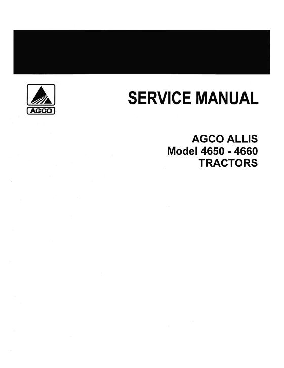 AGCO Technical Publications: AGCO Allis Tractors ... on