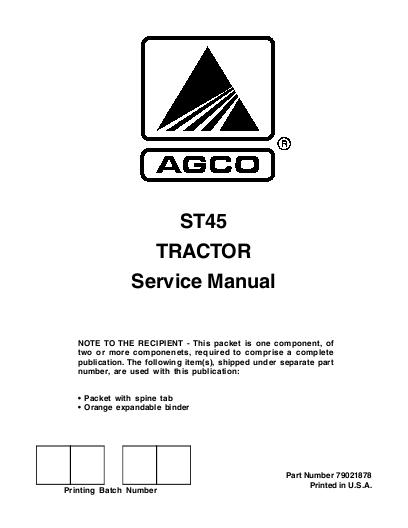 agco technical publications man svc packet st45 rh agcopubs com HP Owner Manuals Manual Book