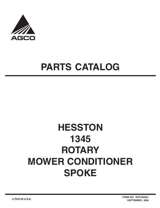 AGCO Technical Publications: Hesston Hay Equipment-Mower