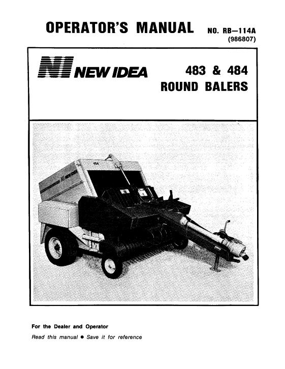agco technical publications new idea hay equipment balers round rh agcopubs com New Idea 486 Parts List New Idea Baler Monitor