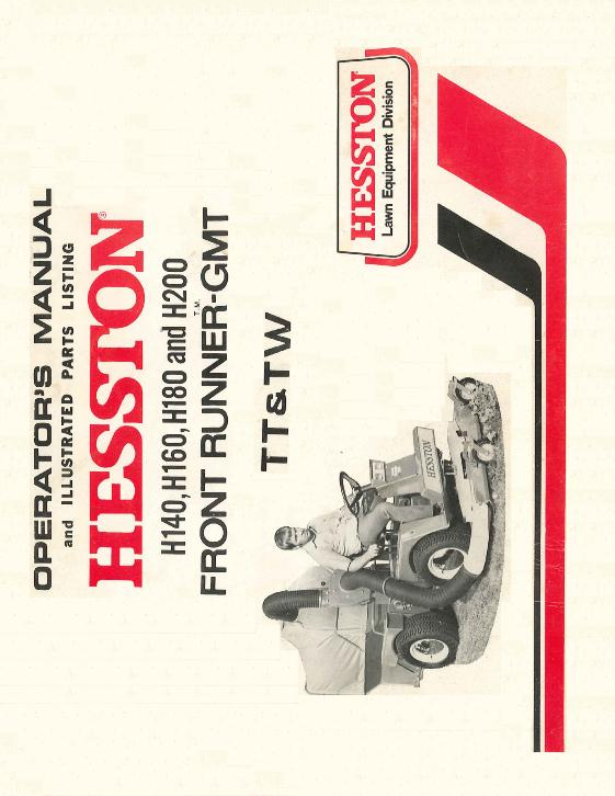 AGCO Technical Publications: Hesston Grounds Care Equipment