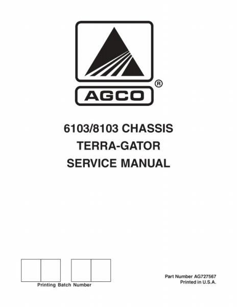 agco technical publications ag chem applicators flotation chassis rh agcopubs com Terra Gator 1844 Terra Gator Rear View