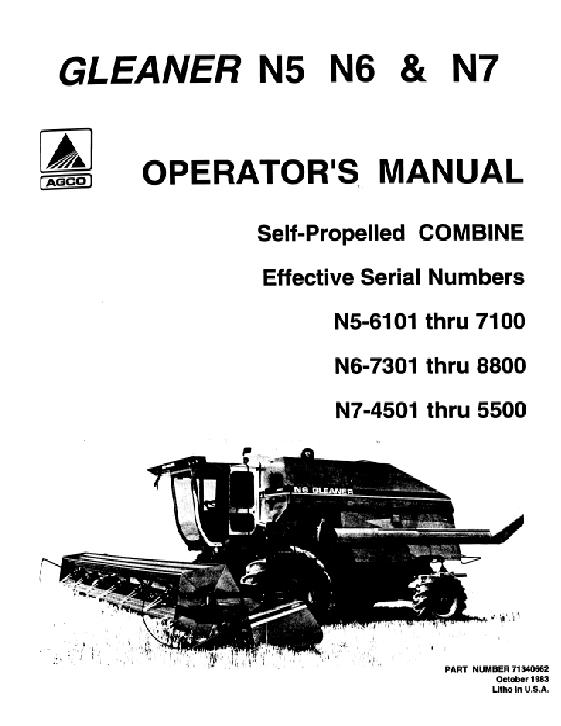 Agco technical publications gleaner harvesting combines rotary n5 click to enlarge image publicscrutiny Images