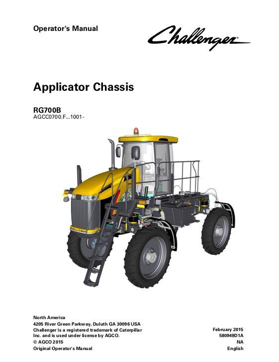 agco technical publications challenger rogator applicators row crop rh agcopubs com rogator 854 operators manual rogator 1074 operators manual