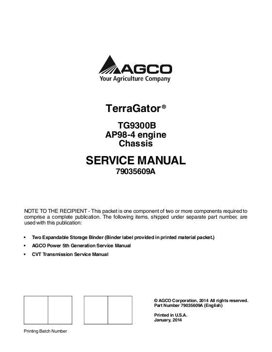 agco technical publications ag chem terragator applicators rh agcopubs com Terra Gator On Water Terra Gator Rear View