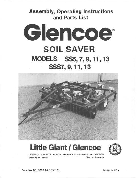 Agco Technical Publications Glencoe Tillage Chisel Plows Ploughs